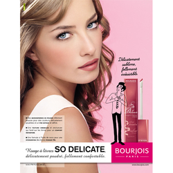Bourjois So Delicate Lip Cream (2009): Cheeks to Lips: # 55 Fuschia Delicat