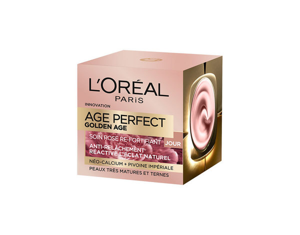 L'Oréal Age Perfect Golden Age Soin Jour Rose Re-Fortifiant (2016) Targets 65 + Year Olds {New ...