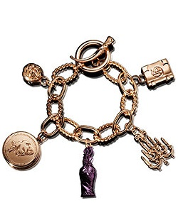 John Galliano Rose Gold Charm Bracelet {Fragrance News - Perfume Jewelry}