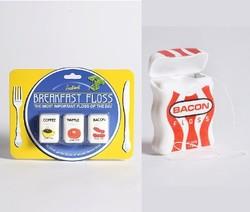 A Few Yards of Dental Floss Whimsy: Breakfast Floss & Bacon Floss {Perfume Shopping Tip}