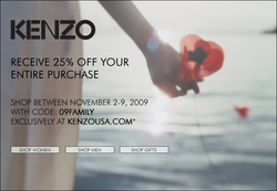 25% Off at Kenzo USA {Shopping Tip}