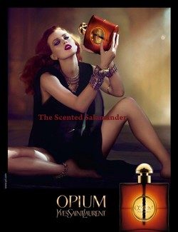 New 2009 Opium Advert Featuring a Redesigned Flacon {Perfume Images & Ads}