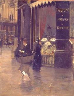 La Parfumerie Violet by Giuseppe De Nittis in 1880 {Perfume Images}