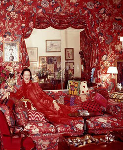 Scented Quote of the Day, from Diana Vreeland: The Lady who Loved Red and Strong Perfumes