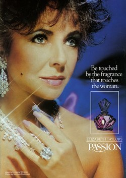 A Retrospective of Elizabeth Taylor in Fragrance Advertising {Perfume Images & Ads}