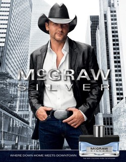 Tim McGraw Silver (2010): Urban Cowboy {Newly Referenced Fragrance} {Celebrity Scent} {Perfume Images & Ads}