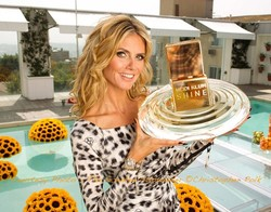 Heidi Klum's Photo Opp for Her New Fragrance Shine {Perfume News} {Celebrity Scent}