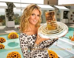 Heidi Klum's Photo Opp for Her New Fragrance Shine {Perfume News} {Celebrity Scent}