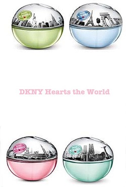 DKNY Be Delicious Hearts the World Collection of 4: Rio, Paris, London, New York City (2012) {New Perfumes}