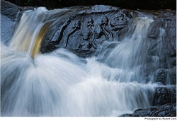Lotus Flowers & Hindu Deities in the Rock in a Waterfall near Angkor Wat {Fragrant Images & Ads}