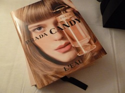 Prada go the Whole Nine Yards with Perfume Book for New Candy l'Eau {Perfume Images & Ads}