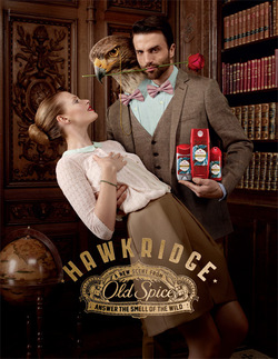 Old Spice New Campaign Touts Smells of the Wild with Foxcrest, Hawkridge & Wolfthorn (2013) {New Perfumes} {Men's Colognes}