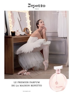 Debut Repetto Perfume Advertising Campaign Started Today in France {Fragrance News} {Perfume Images & Adverts}
