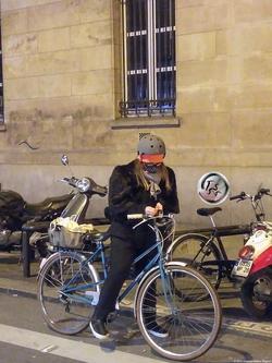 Woman on a Bike {Paris Photo}