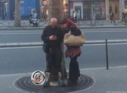 Cyberpunk Couple at Dusk {Paris Photo}