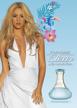 Shakira Paradise Elixir (2015) {New Fragrance} {Celebrity Perfume} {Perfume Images & Ads}