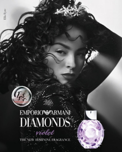Armani Emporio Armani Diamonds Violet (2015) {New Fragrance} {Perfume Images & Ads}