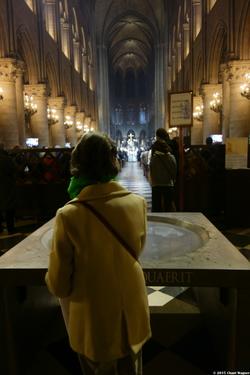 End of Sunday Mass at Notre Dame de Paris {Paris Photo}