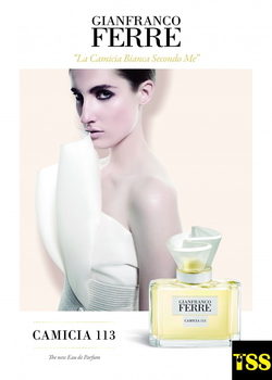 Ferre Camicia 113 Takes Shape Thanks to a White Shirt & a Lily (2015) {New Perfume}