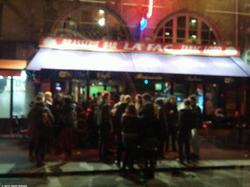 A Cafe Terrace on a February Night - Une terrasse de café une nuit de février - 130 Street Photos after the Paris Attacks {Paris Street Photo}