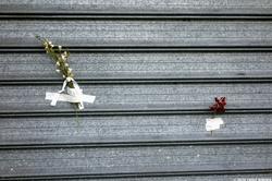 The Taped Flowers ≈ Les fleurs scotchées ≈ 130 Street Photographs after the Paris Attacks {Paris Street Photo}