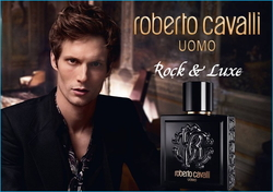 Roberto Cavalli Uomo Wears a Black Violet on his Chic Lapel (2016) {New Fragrance} {Men's Cologne}