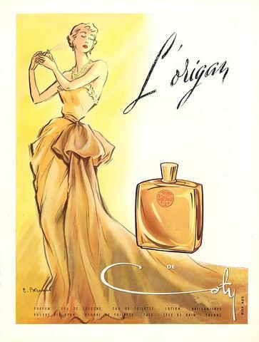 L'Origan Coty Ad 1950.jpg