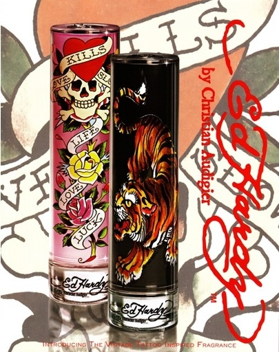 Ed Hardy and Christian Audigier released a duo of signature perfumes this