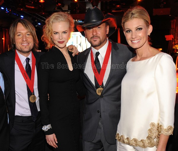 From left to right Keith Urban Nicole Kidman Tim McGraw Faith Hill on