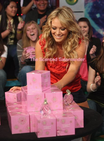 Hilary Duff promoting her sequel fragrance, Wrapped With Love, ...