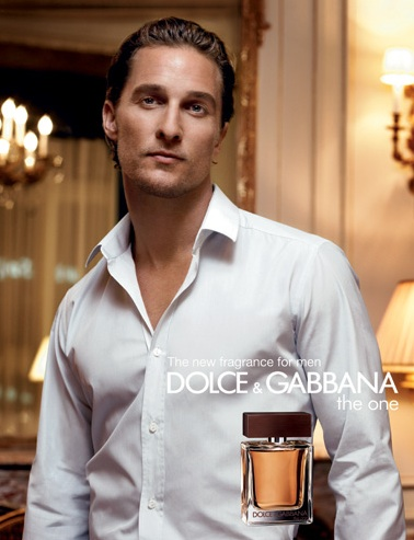 Ключевые слова: Dolce & Gabbana, The One, духи, парфюм, Мэттью МакКонахи.