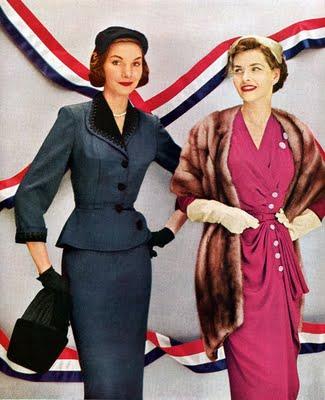 blue Pierre Balmain & pink Robert Piguet 1951.jpg